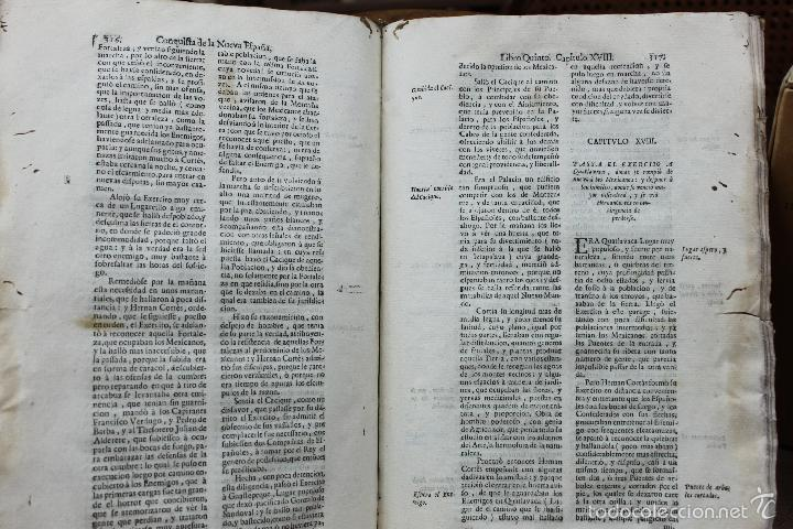 Libros antiguos: HISTORIA DE LA CONQUISTA DE MEXICO, POBLACION Y PROGRESOS... ANTONIO DE SOLÍS. 1735. - Foto 8 - 57725015