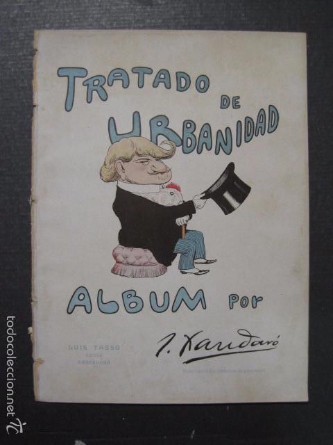 TRATADO DE URBANIDAD - ALBUM XAURADO - ORIGINAL - LUIS TASSO -BARCELONA -VER FOTOS - (XL-38) (Libros Antiguos, Raros y Curiosos - Ciencias, Manuales y Oficios - Otros)