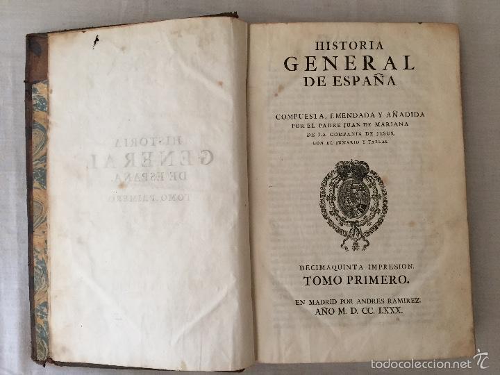 Libros antiguos: HISTORIA GENERAL DE ESPAÑA, POR EL PADRE JUAN DE MARIANA. AÑO 1780. - Foto 12 - 57727587