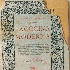 Libros antiguos: COLOMBINE (CARMEN DE BURGOS) : LA COCINA MODERNA (C 1920) CON MÁS DE 800 RECETAS.. Lote 57729038