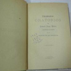 Libros antiguos: RARISIMO, TRABAJOS ORATORIOS DE ANTONIO LOPEZ MUÑOZ, GRANADA 1889, DISCURSOS, CONFERENCIAS. Lote 57734672