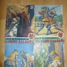 Libros antiguos: ESPRONCEDA, JOSÉ DE. SANCHO SALDAÑA. [OBRA COMPLETA] / IL. DE AGUSTÍN. (LOS GRANDES FOLLETINES). Lote 57788661
