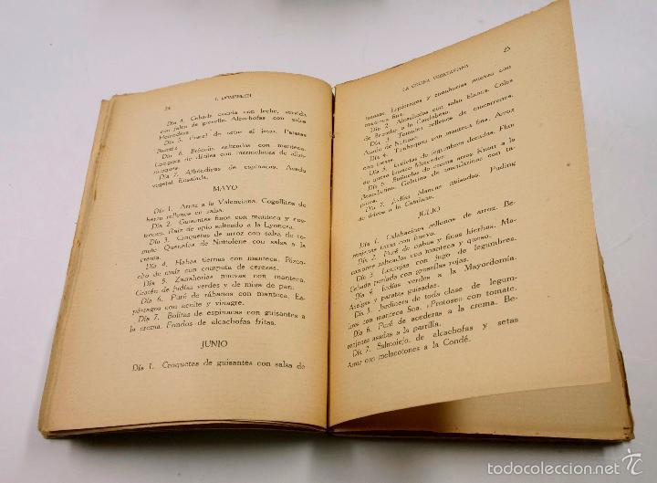 Libros antiguos: LA COCINA VEGETARIANA, IGNACIO DOMENECH. BARCELONA 1923, 13X18 CM. - Foto 3 - 57855532