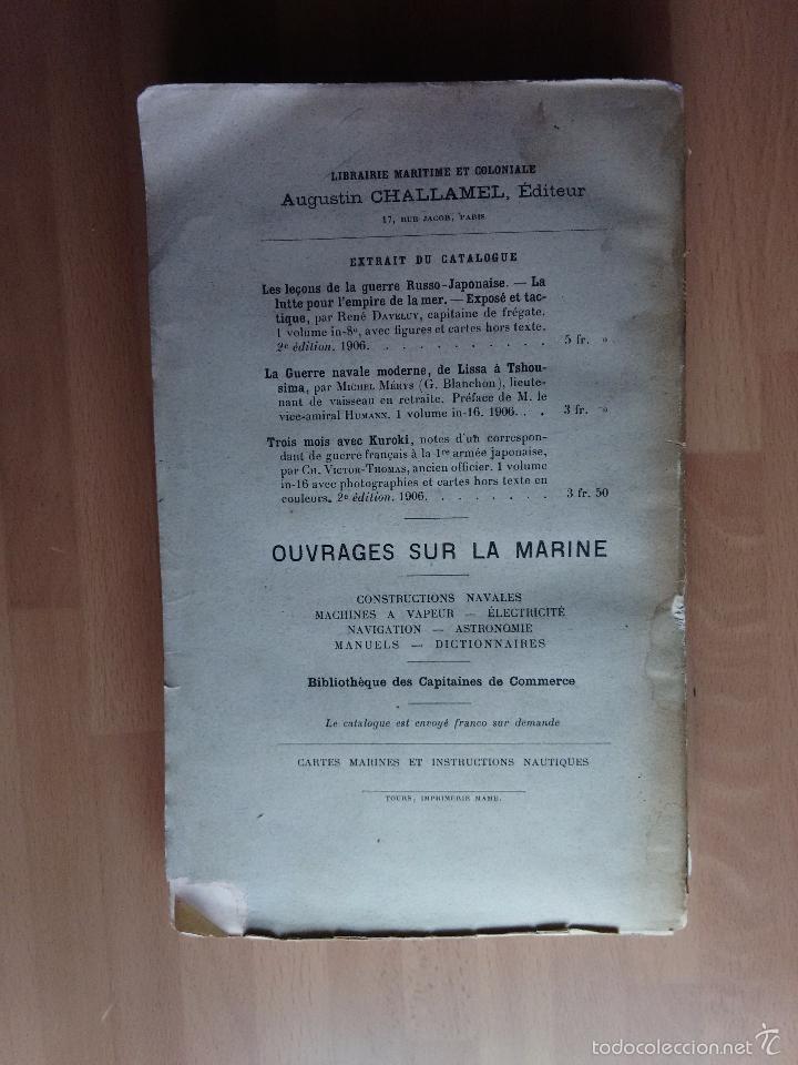 Libros antiguos: LA GUERRE SUR MER. STRATEGIE ET TACTIQUE (GUERRA EN EL MAR. TEXTO EN FRANCÉS. EDICIÓN DE 1907) - Foto 9 - 57859752