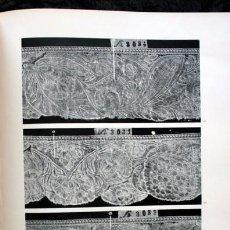 Libros antiguos: ENCAJES ANTIGUOS - SU ESTILO Y SU TÉCNICA - FOTOGRAFIAS - GRAN FORMATO - RARO - HENNEBERG. Lote 104902726