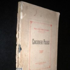 Libros antiguos: CANCIONERO PASIEGO / FRAY JUSTO PEREZ DE URBEL / 1933. Lote 57871179