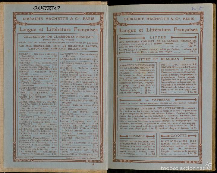 Libros antiguos: GRAMMAIRE FRANCESES COURS ELEMENTAIRE, BRACHET ET DUSOUCHET, 1912, CARTONÉ 12X18CM 192 PAG - Foto 2 - 57876440