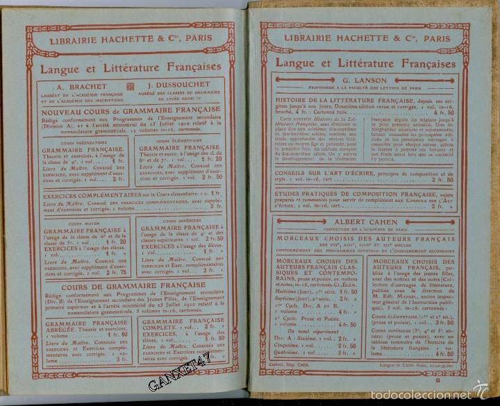 Libros antiguos: GRAMMAIRE FRANCESES COURS ELEMENTAIRE, BRACHET ET DUSOUCHET, 1912, CARTONÉ 12X18CM 192 PAG - Foto 3 - 57876440