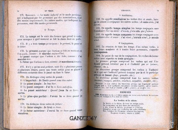 Libros antiguos: GRAMMAIRE FRANCESES COURS ELEMENTAIRE, BRACHET ET DUSOUCHET, 1912, CARTONÉ 12X18CM 192 PAG - Foto 5 - 57876440
