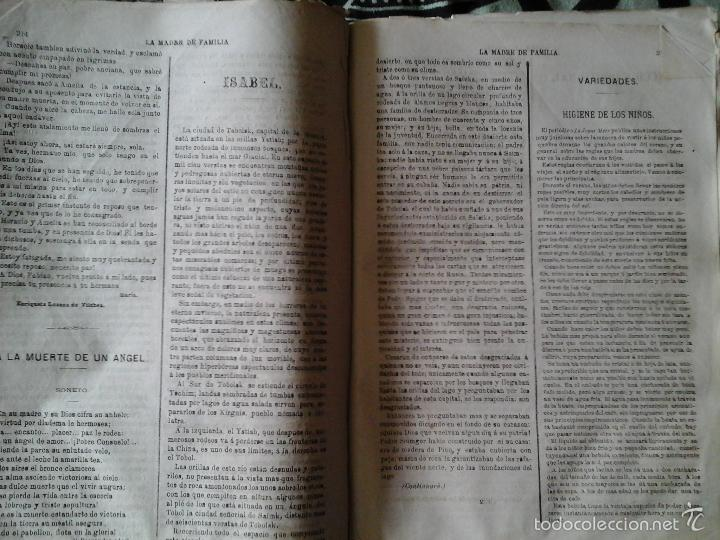 Libros antiguos: La Madre de familia. Enriqueta Lozano Vilchez, 1879. Año completo. Literatura, mujer, historia, XIX - Foto 3 - 57927374