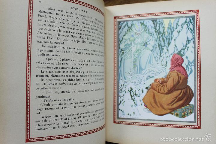 Libros antiguos: CONTES DE L'ISBA. ILUSTR. IVAN BILIBINE. 1931. PRIMERA EDICIÓN. - Foto 6 - 57952918