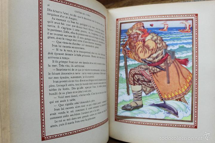 Libros antiguos: CONTES DE L'ISBA. ILUSTR. IVAN BILIBINE. 1931. PRIMERA EDICIÓN. - Foto 8 - 57952918