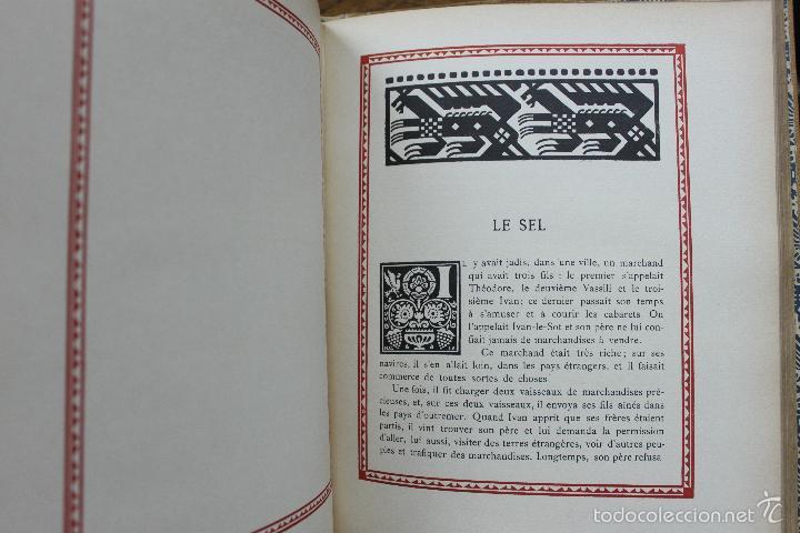 Libros antiguos: CONTES DE L'ISBA. ILUSTR. IVAN BILIBINE. 1931. PRIMERA EDICIÓN. - Foto 9 - 57952918