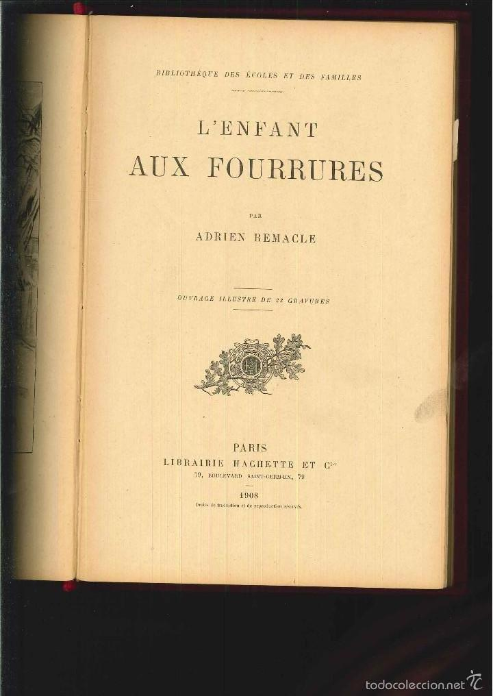Libros antiguos: L'ENFANT AUX FOURRURES. Adrien Remacle. - Foto 1 - 56732187