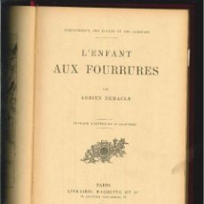 Libros antiguos: L'ENFANT AUX FOURRURES. ADRIEN REMACLE. . Lote 56732187