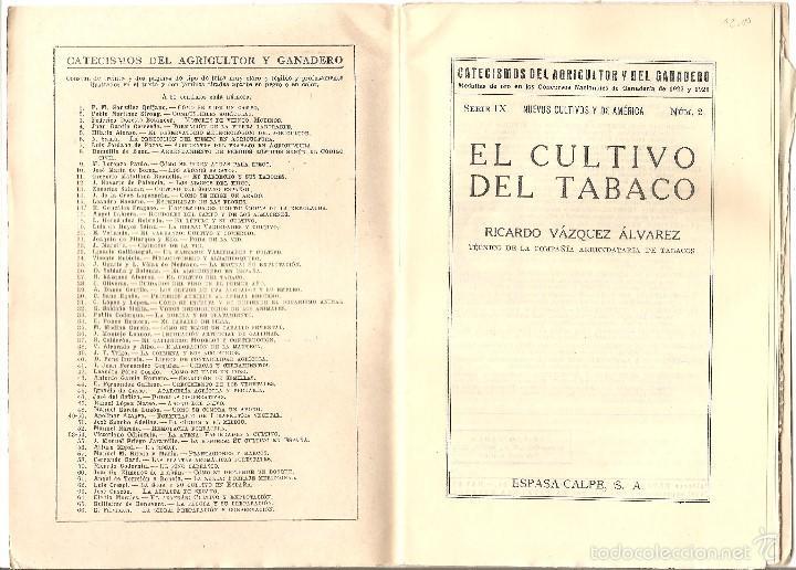 Libros antiguos: CATECISMO DEL AGRICULTOR Y DEL GANADERO Nº 27 - EL CULTIVO DEL TABACO POR RICARDO VÁZQUEZ - Foto 2 - 57988810