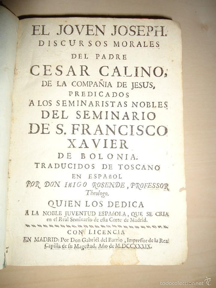 DISCURSOS MORALES ... REAL SEMINARIO DE ESTA CORTE DE MADRID - CESAR CALINO - 1799 (Libros Antiguos, Raros y Curiosos - Pensamiento - Otros)