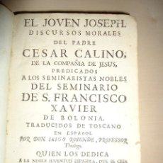 Libros antiguos: DISCURSOS MORALES ... REAL SEMINARIO DE ESTA CORTE DE MADRID - CESAR CALINO - 1799. Lote 58017236