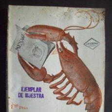 Libros antiguos: MENAGE NUMERO 34 , NOVIEMBRE AÑO 1933 , EPOCA DE LA REPUBLICA . Lote 58018132
