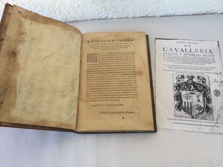 Libros antiguos: TESORO MILITAR DE CAVALLERIA. ANTIGUO Y MODERNO MODO DE ARMAR. DIEGO DIAZ DE LA CARRERA. AÑO 1642. - Foto 36 - 58105590