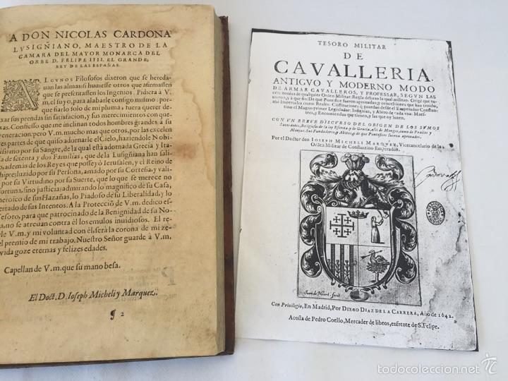 Libros antiguos: TESORO MILITAR DE CAVALLERIA. ANTIGUO Y MODERNO MODO DE ARMAR. DIEGO DIAZ DE LA CARRERA. AÑO 1642. - Foto 40 - 58105590