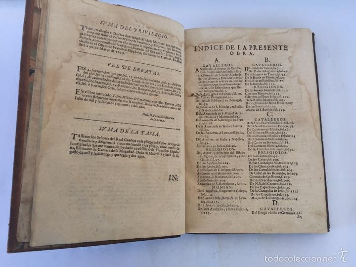 Libros antiguos: TESORO MILITAR DE CAVALLERIA. ANTIGUO Y MODERNO MODO DE ARMAR. DIEGO DIAZ DE LA CARRERA. AÑO 1642. - Foto 56 - 58105590