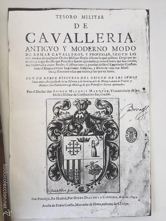 Libros antiguos: TESORO MILITAR DE CAVALLERIA. ANTIGUO Y MODERNO MODO DE ARMAR. DIEGO DIAZ DE LA CARRERA. AÑO 1642. - Foto 41 - 58105590