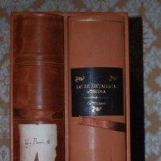 Libros antiguos: DE RE METALLICA (1561), DE GEORG BAUER, AGRI´COLA. Lote 58131938