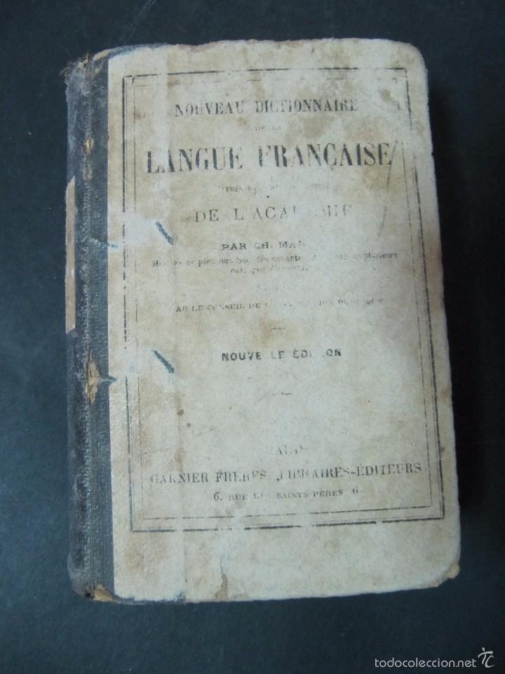 LIBRO NOUVEAU DICTIONNAIRE DE LA LANGE FRANÇAISE 536 PAGINAS TAPA DURA (Libros Antiguos, Raros y Curiosos - Otros Idiomas)