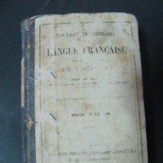 Libros antiguos: LIBRO NOUVEAU DICTIONNAIRE DE LA LANGE FRANÇAISE 536 PAGINAS TAPA DURA. Lote 58134182