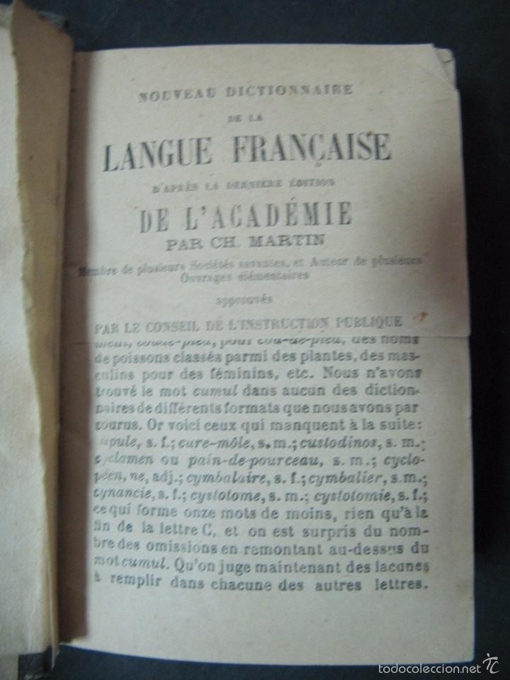 Libros antiguos: LIBRO NOUVEAU DICTIONNAIRE DE LA LANGE FRANÇAISE 536 PAGINAS TAPA DURA - Foto 2 - 58134182