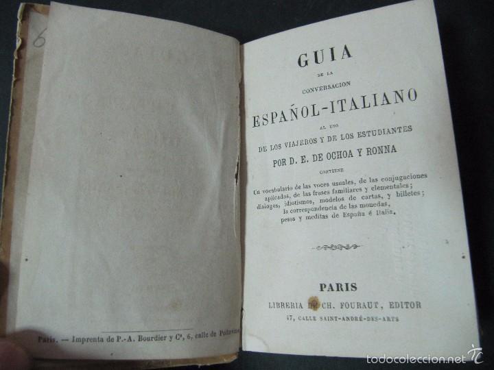Libros antiguos: GUIA DE LA CONVERSACION ESPAÑOL ITALIANO TAPA DURA 372 PAGINAS - Foto 2 - 58134352