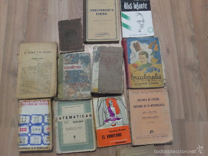 Libros antiguos: lote de unos 15 libros -diferentes estados - Foto 8 - 58138726