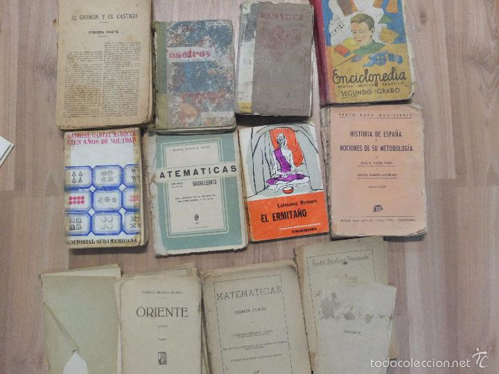 Libros antiguos: lote de unos 15 libros -diferentes estados - Foto 12 - 58138726