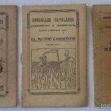 Libros antiguos: RONDALLES CATALANES - TRES NUMEROS - AÑOS 30. Lote 58143483