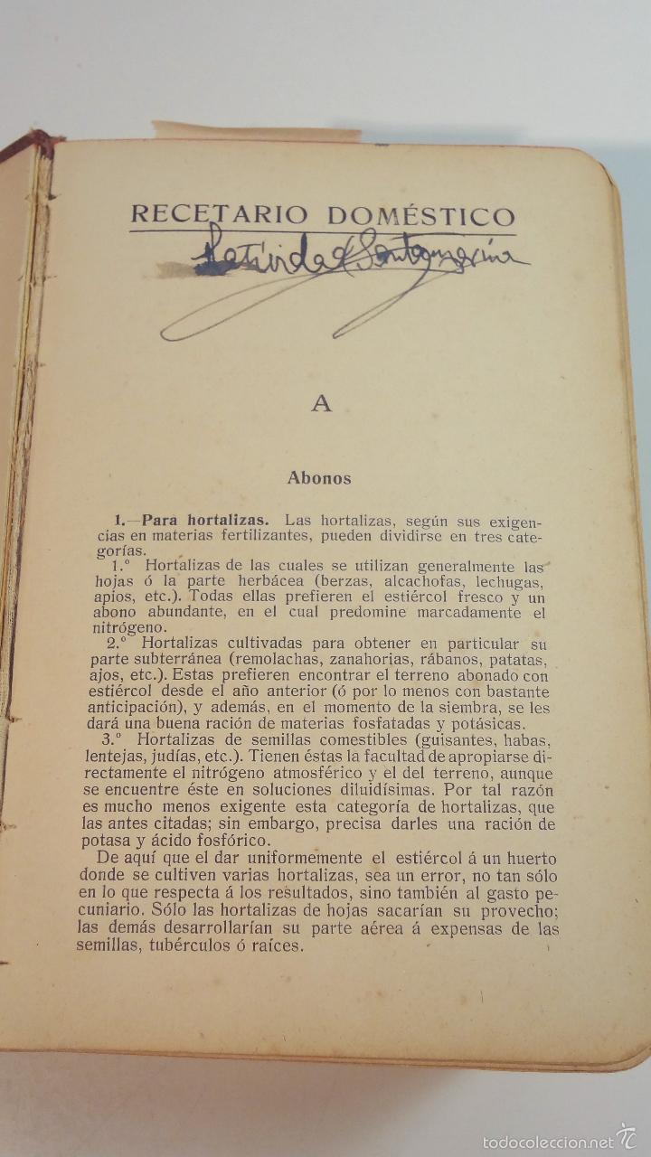 Libros antiguos: RECETARIO DOMESTICO-GHERSI-CASTOLDI-GUSTAVO GILI-1911 - Foto 4 - 58188954