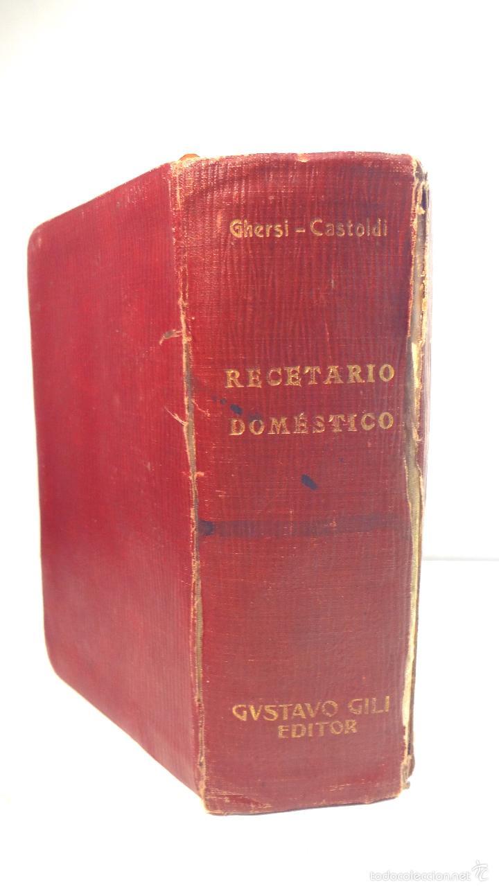 Libros antiguos: RECETARIO DOMESTICO-GHERSI-CASTOLDI-GUSTAVO GILI-1911 - Foto 26 - 58188954