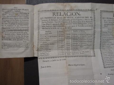 Libros antiguos: RELACION SUCESO CIUDAD DE ZARAGOZA 6 DE ABRIL DE 1766- IMPRENTA DEL REY AÑO 1766-VER FOTOS -(XL-49) - Foto 10 - 224217420