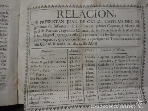 Libros antiguos: RELACION SUCESO CIUDAD DE ZARAGOZA 6 DE ABRIL DE 1766- IMPRENTA DEL REY AÑO 1766-VER FOTOS -(XL-49) - Foto 11 - 224217420