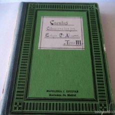 Libros antiguos: CUENTOS COLECCIONADOS POR ENRIQUE GARCIA ALVAREZ TOMO 3. Lote 58209098