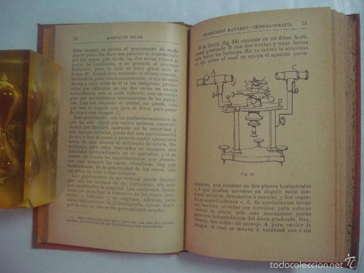 Libros antiguos: FERNÁNDEZ NAVARRO. CRISTALOGRAFIA. 1900 MANUALES SOLER 31 ILUSTRADO 100 GRABADOS - Foto 3 - 58301773