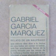 Livros antigos: RELATO DE UN NAUFRAGO (GABRIEL GARCIA MARQUEZ) - TUSQUETS. Lote 58344902