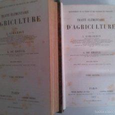 Libros antiguos: TRAITE ELEMENTAIRE D'AGRICULTURE. J. GIRARDIN - A. DU BREUIL. (2 TOMOS). Lote 58367023