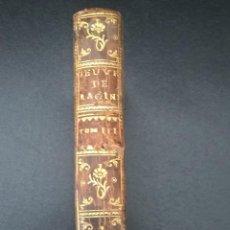 Libros antiguos: OUVRES DE RACINE. TOME III. PARIS 1750. IPHIGENIE TRAGEDIE. FRANCES.OBRAS DE RACINE.. Lote 58380087