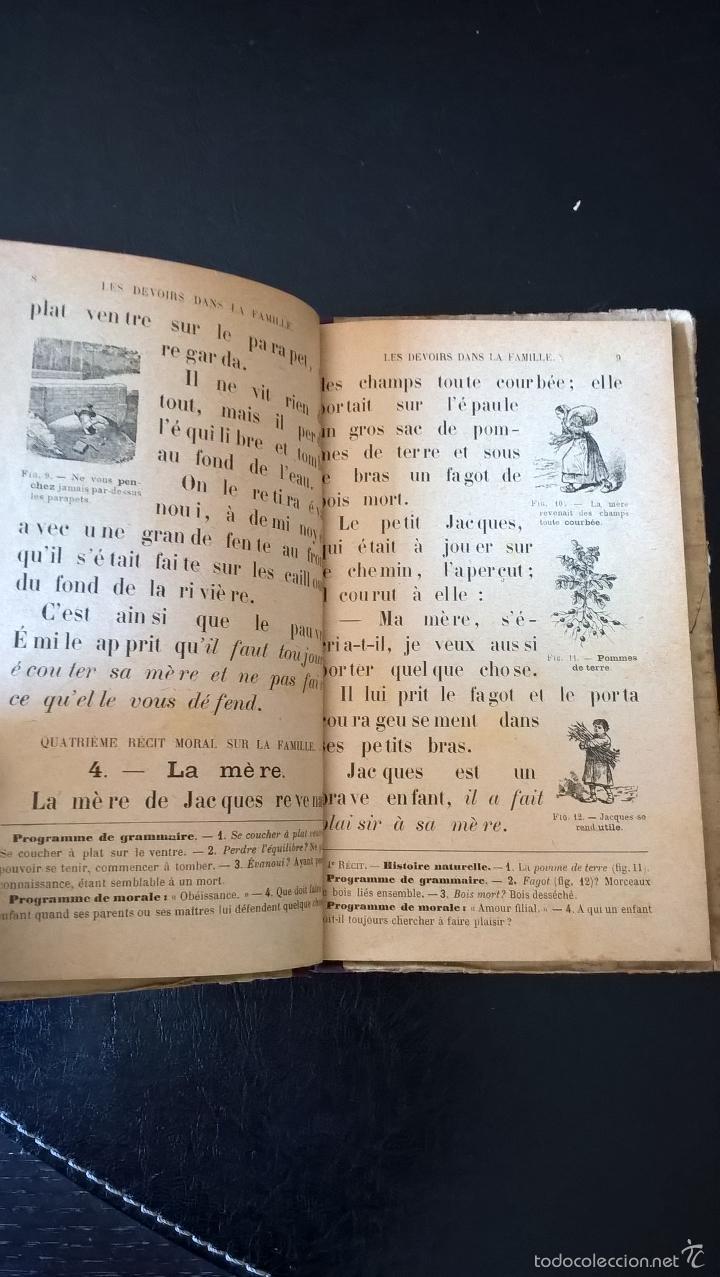 Libros antiguos: L´ ANNEE ENFANTINE DE LECTURE COURANTE. M. GUYAU. FRANCES. - Foto 3 - 58394769