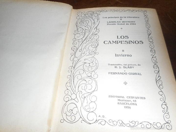 Libros antiguos: libro primera edicion 1926 de solo 25 ejemplares, los campesinos , invierno de ladislao reymont - Foto 2 - 58455348
