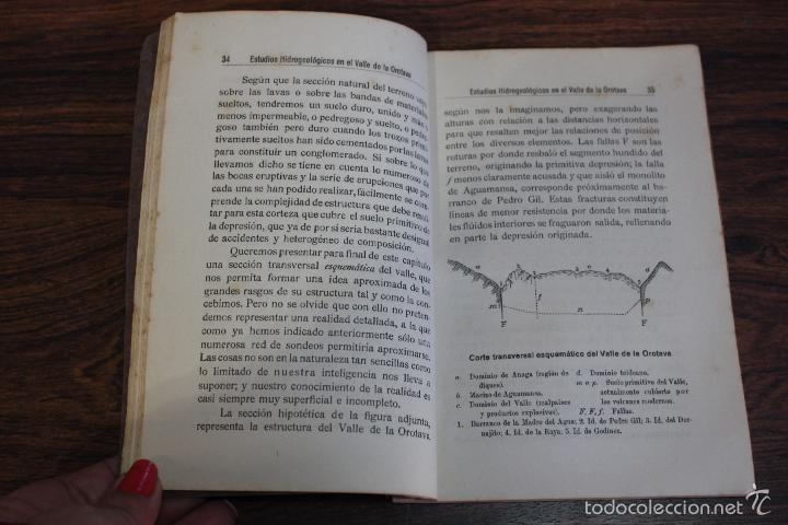 Libros antiguos: ESTUDIOS HIDROGEOLOGICOS EN EL VALLE DE LA OROTAVA, LUCAS FERNANDEZ NAVARRO.CANARIAS 1924.98 PAGINAS - Foto 5 - 58499230