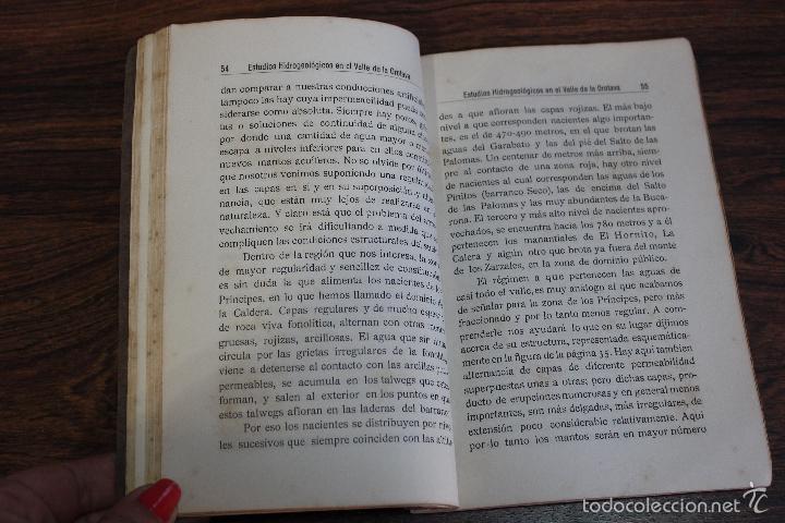 Libros antiguos: ESTUDIOS HIDROGEOLOGICOS EN EL VALLE DE LA OROTAVA, LUCAS FERNANDEZ NAVARRO.CANARIAS 1924.98 PAGINAS - Foto 6 - 58499230