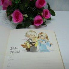 Libros antiguos: LIBRO DE VIDA-NIÑO-NIÑA-RECORDATORIO-BAUTIZO-COMUNIÓN-NAVIDAD-NUEVO-PRECIOSO-COLECCIÓN-ASI. Lote 58675691