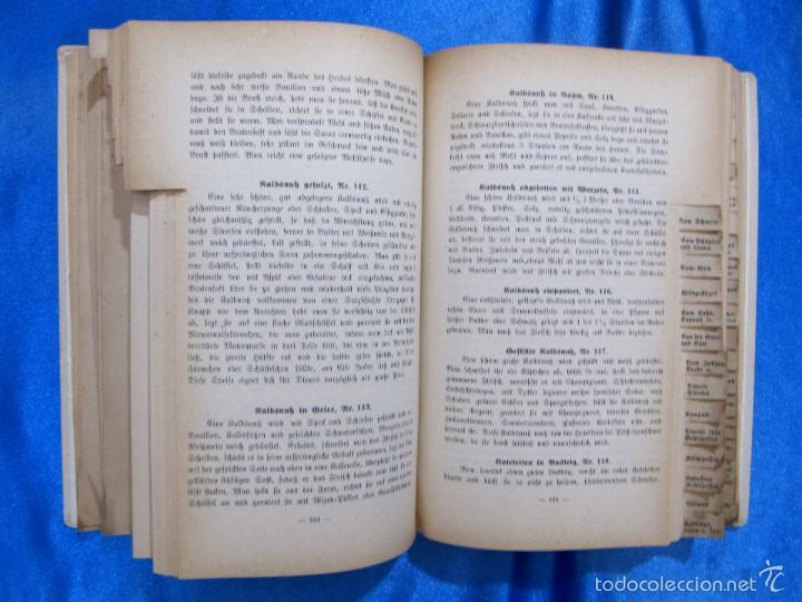 Libros antiguos: HILFSBUCH FÜR MENUS. ELSA FREIFRAU VON CNOBLOCH-REININGHAUS. VERLAG LEUSCHNER & LUBENSKY, GRAZ. 1914 - Foto 6 - 58681187